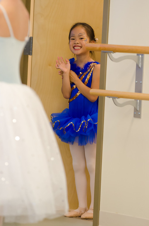 Summer dance camp performance: Lindsay as a bluebird