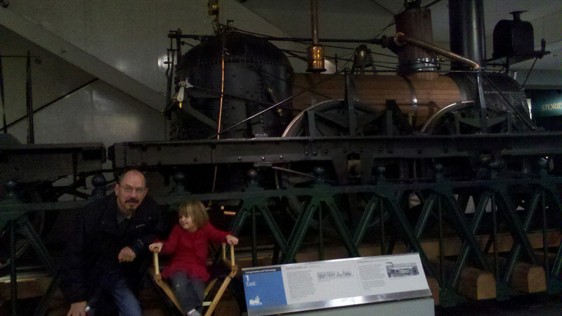At the national history museum 11/12 with Grandpa Mike.