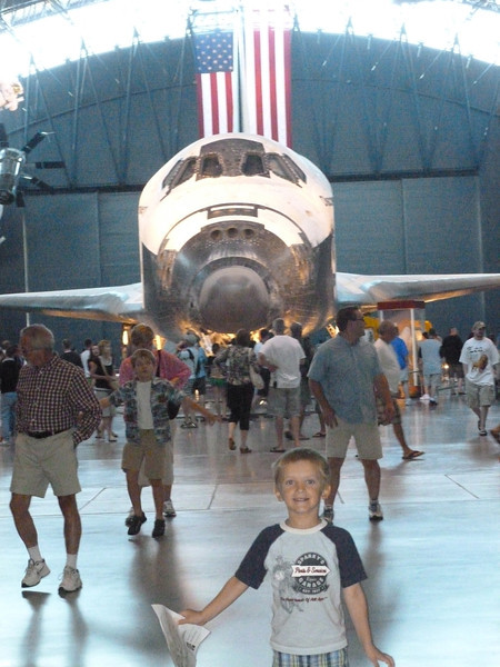 At Air and Space in July 2012 near Dulles - Space Shuttle Discovery...way Cool!