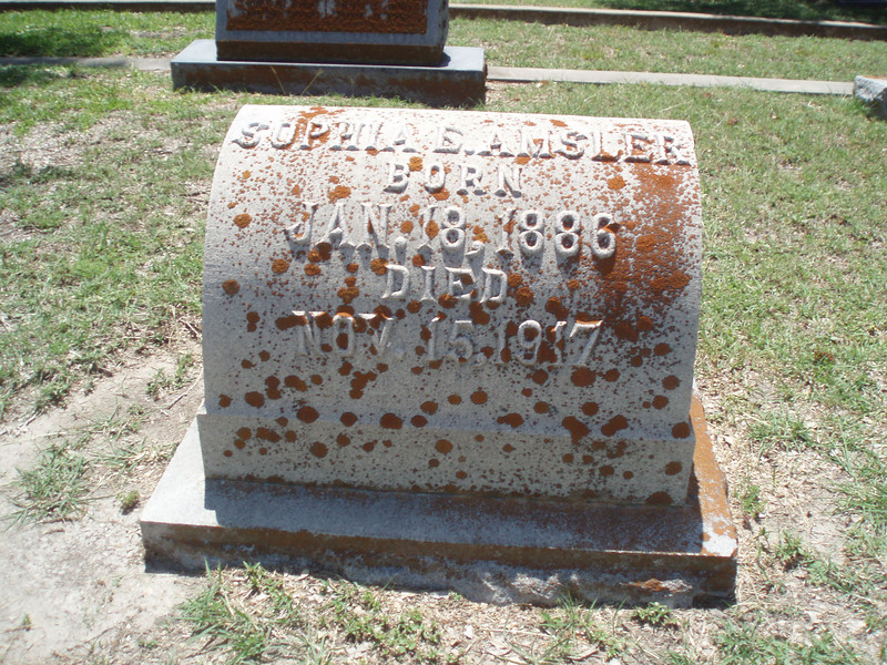 Grave site visit at cemetry just south of I20 toward downtown Flatonia.