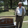 Sammy Amsler at gravesite of his grandparents. 6/16/12