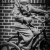 Dad at 3 in suit on tricycle