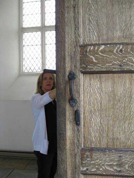 massive oak doors to the Chapel