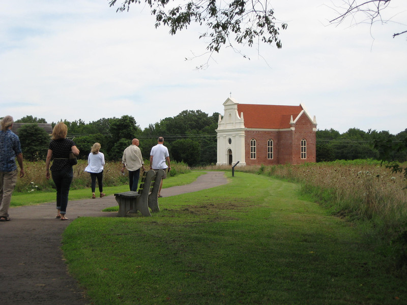 making our way over to the Brick Chapel