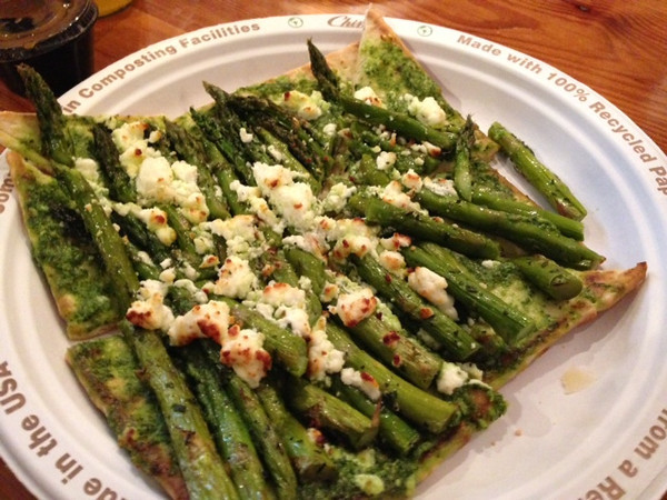 grilled asparagus with goat cheese foccacia - yum - a photo courtesy of Sue