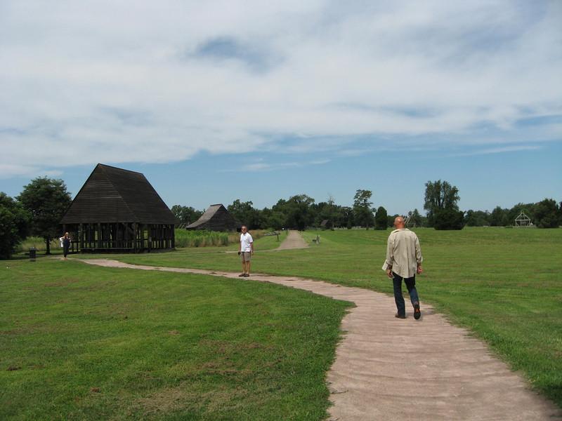 interpretive pavilion near Chapel, telling its history