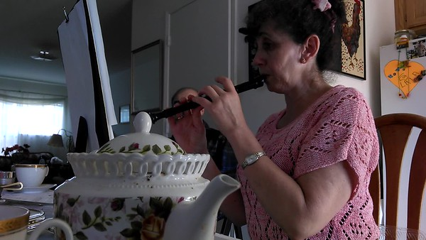 Mom playing flute