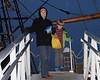Laura and Rowan on the Mayflower II (Plimouth, MA)