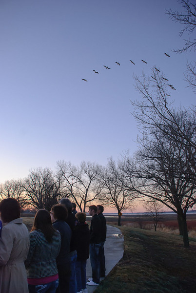 Sunrise Service Fly-Over.