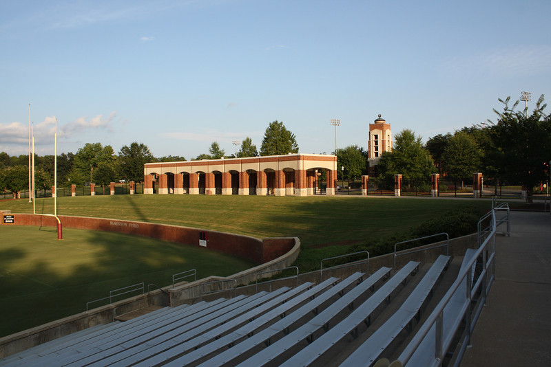 From the football stadium looking back towards campus