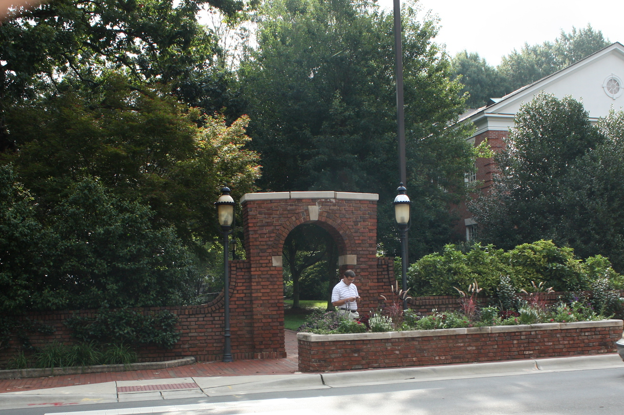 Side entrance to the historic part of campus. Katherine's dorm is in this area.  Just beautiful.