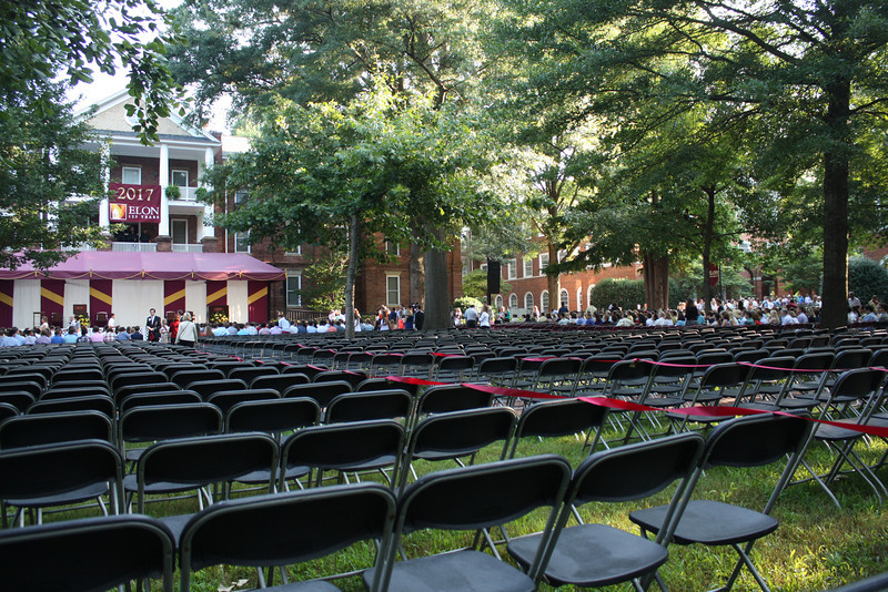 Students arriving for convocation.   Graduation will be here too.