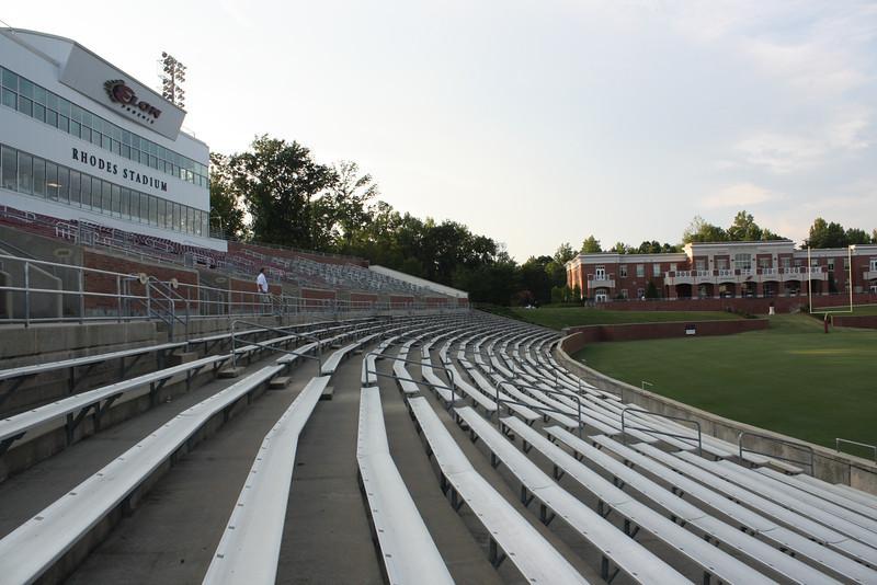 The football stadium.