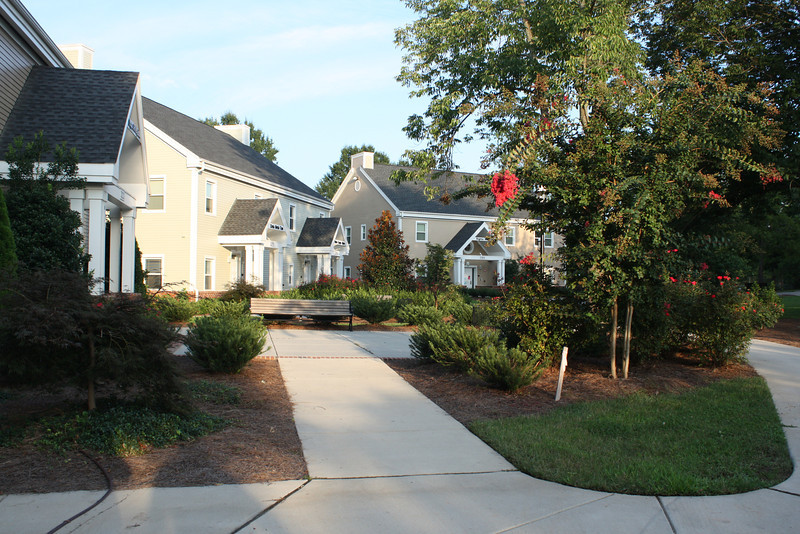 The Greek houses are located in a neighborhood across the street from the Koury business center.