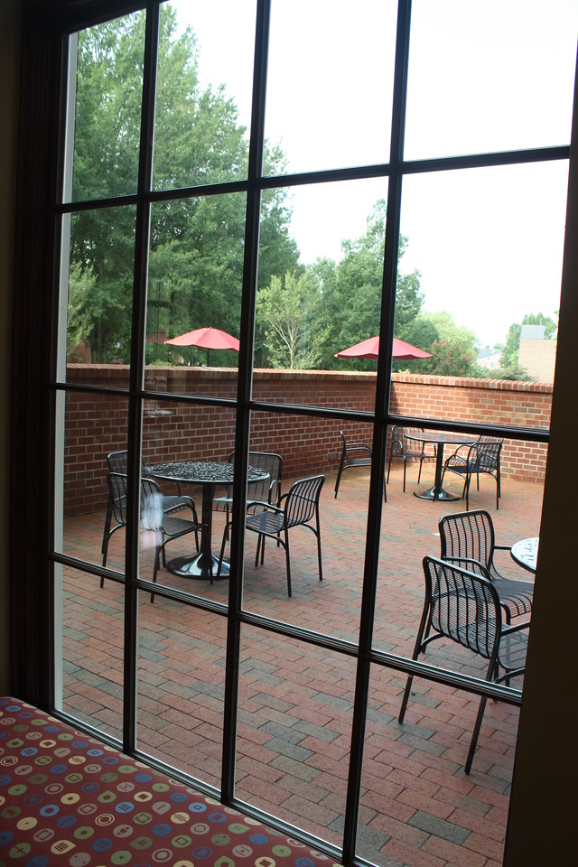 Terrace outside of Lakeside dining hall