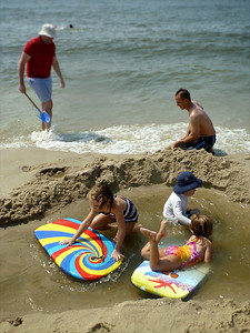 Playing at Stites Beach