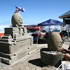 Discovered that the Sand Castle competition was on in Parksville.  Sunday was the last day of carving.  Pretty cool.. got to watch the carving and close to the finished products.