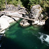 Very clear water with a distinctive tint.  Little Qualicum Falls.