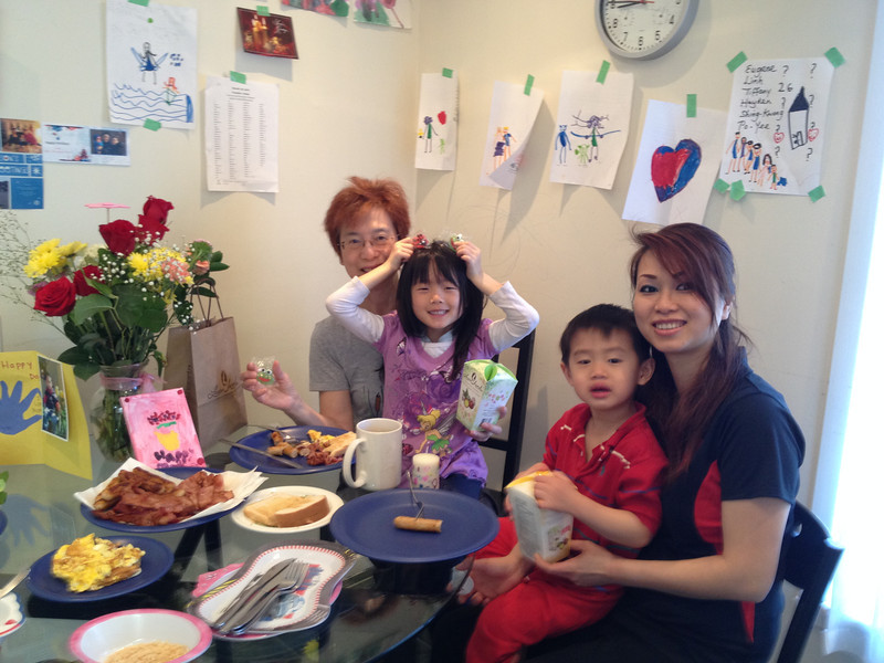 Mothers Day breakfast - prepared under the direction of Tiffany.