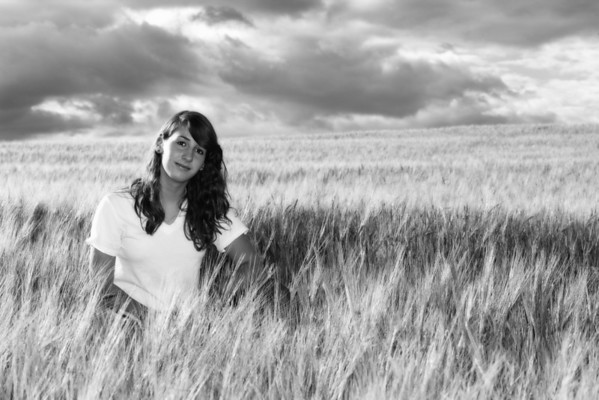 Sara hangs out in a barley field in Idaho.  Not sure why.....