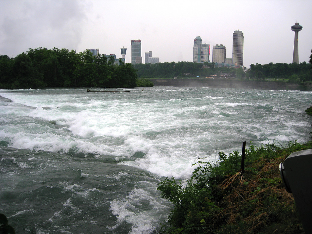 Looking across the Falls to the Canadian side.