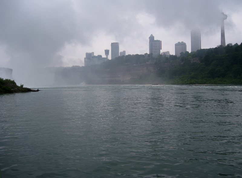 Looking towards Niagara Falls, Canada from aboard the Maid of the Mist