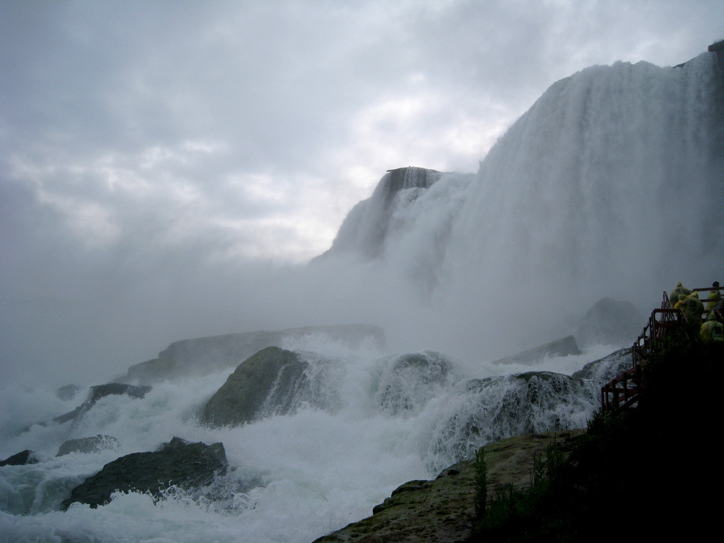 One of my favorite pics of the trip; the base of the American Falls.