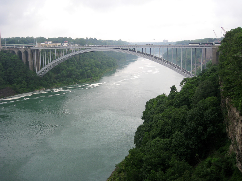 Rainbow Bridge connecting the US to Canada.
