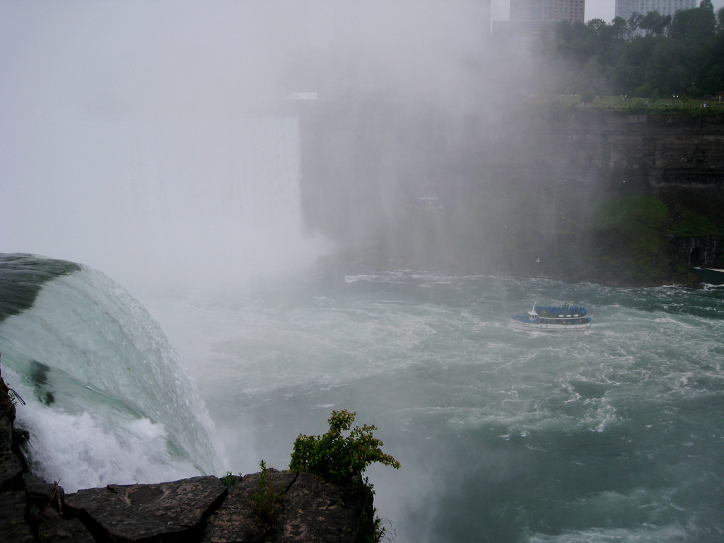 Horseshoe Falls from Goat Island observation deck.