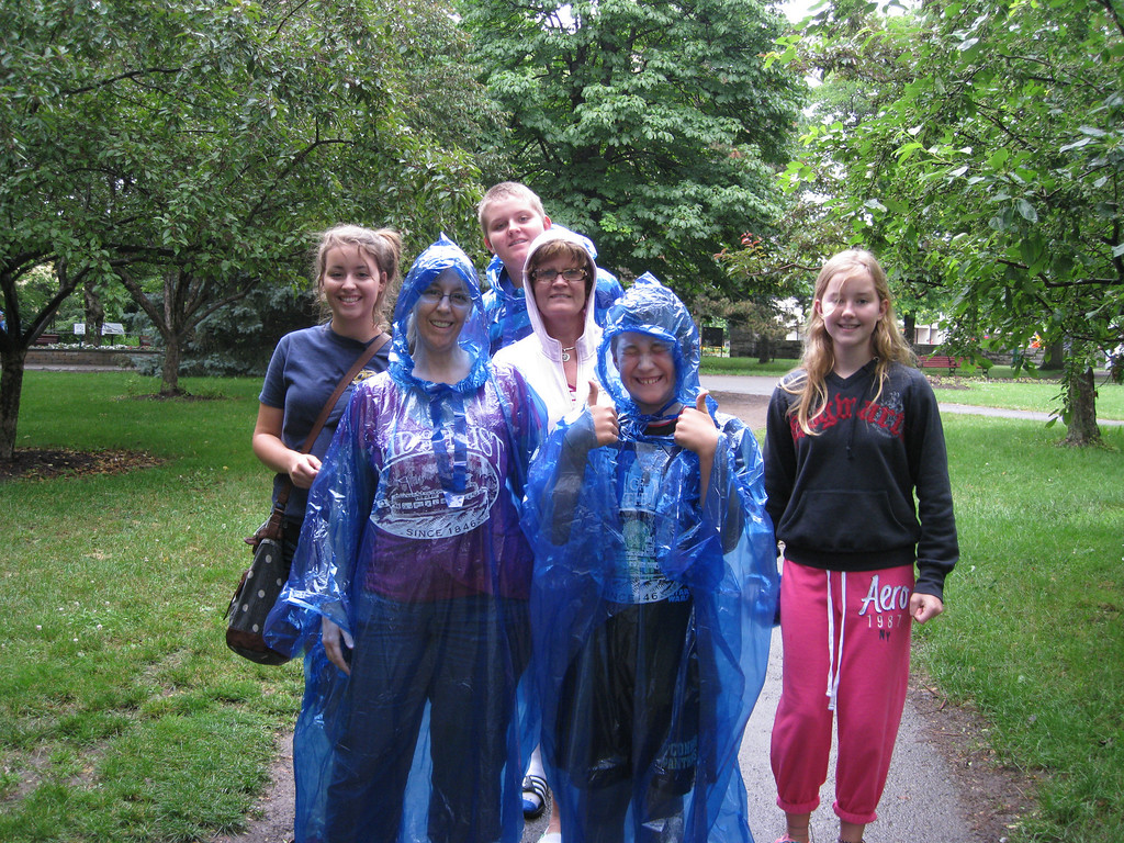 Shortly after arriving at Niagara Falls, getting ready to go see the sights.  It was a rainy day.  As a matter of fact, it pretty much rained the entire time we were there, with only a few breaks.