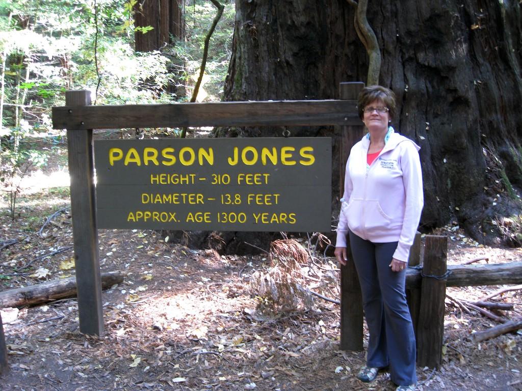 Jan by the Parson Jones tree.