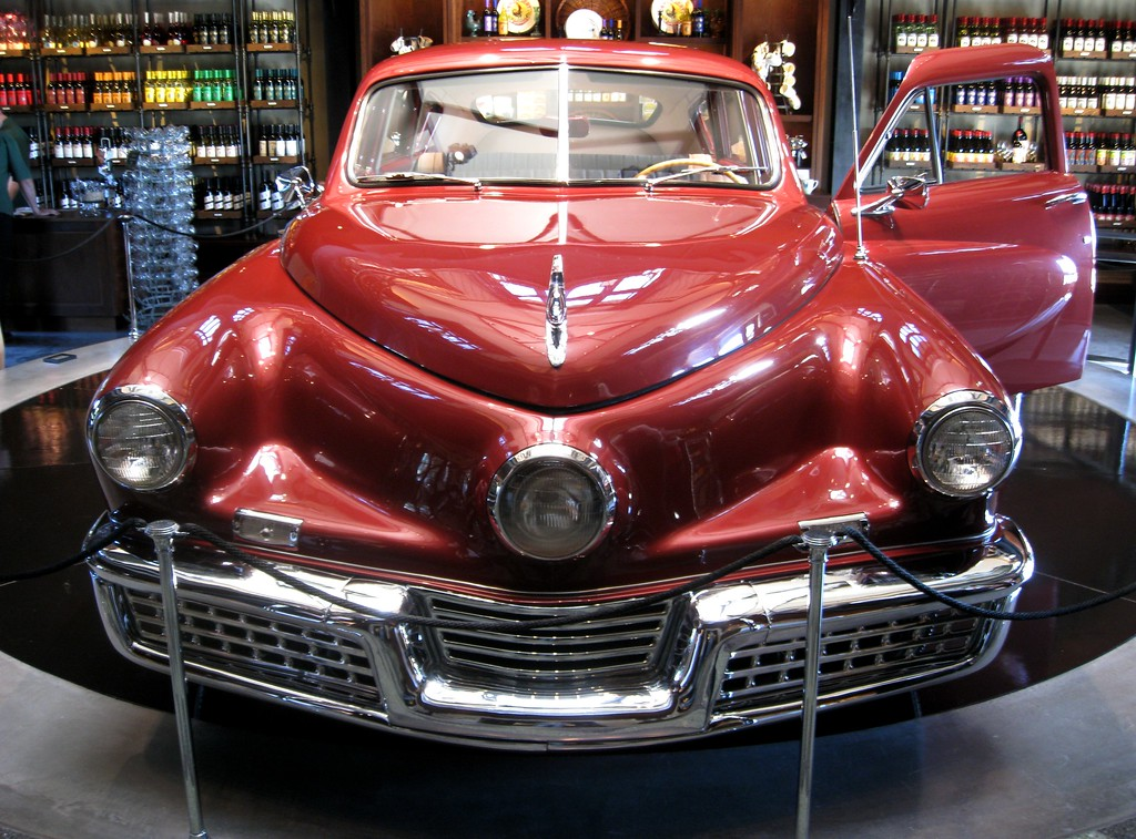 A running Tucker used in the making of the movie by the same name.  The caretakers said they start it up every couple of weeks, in case Francis Ford Coppola shows up and wants to take it for a spin.