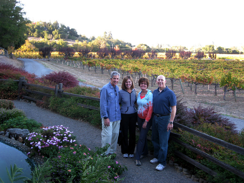 In front of Mill Creek Winery.