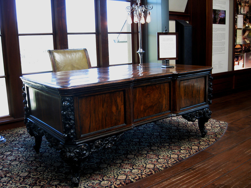 """The desk and chair used by Marlon Brando's character Don Vito Corleone in """"The Godfather"""" and sequels."""
