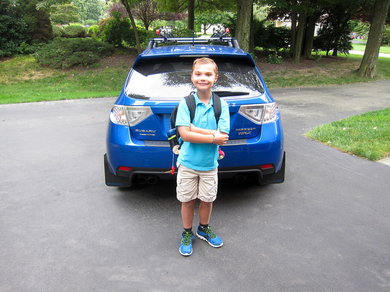 K.C.'s first day back to school.