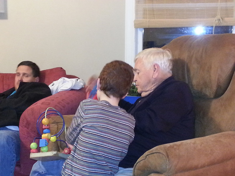 Papa Ronnie and Josh. M is worn out! LOL