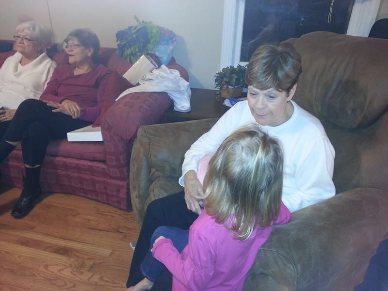 Emmy telling Aunt Patsy about Rudolph's progress.
