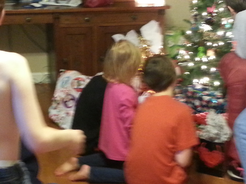 Anxious to open gifts!