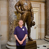 7.25.2013 - Connor's and David's trip to Washington, DC. The statute of John Campbell Greenway in Statutory Hall.