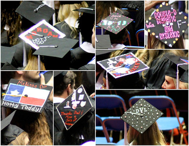 I enjoyed seeing the hats that some of the graduates had decorated. Here's a sampling.