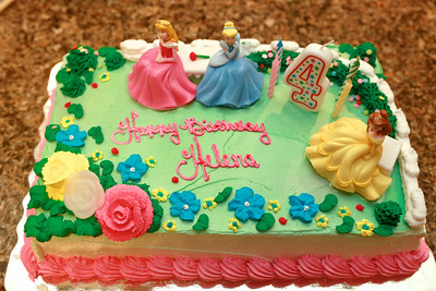 The cake - princesses of course