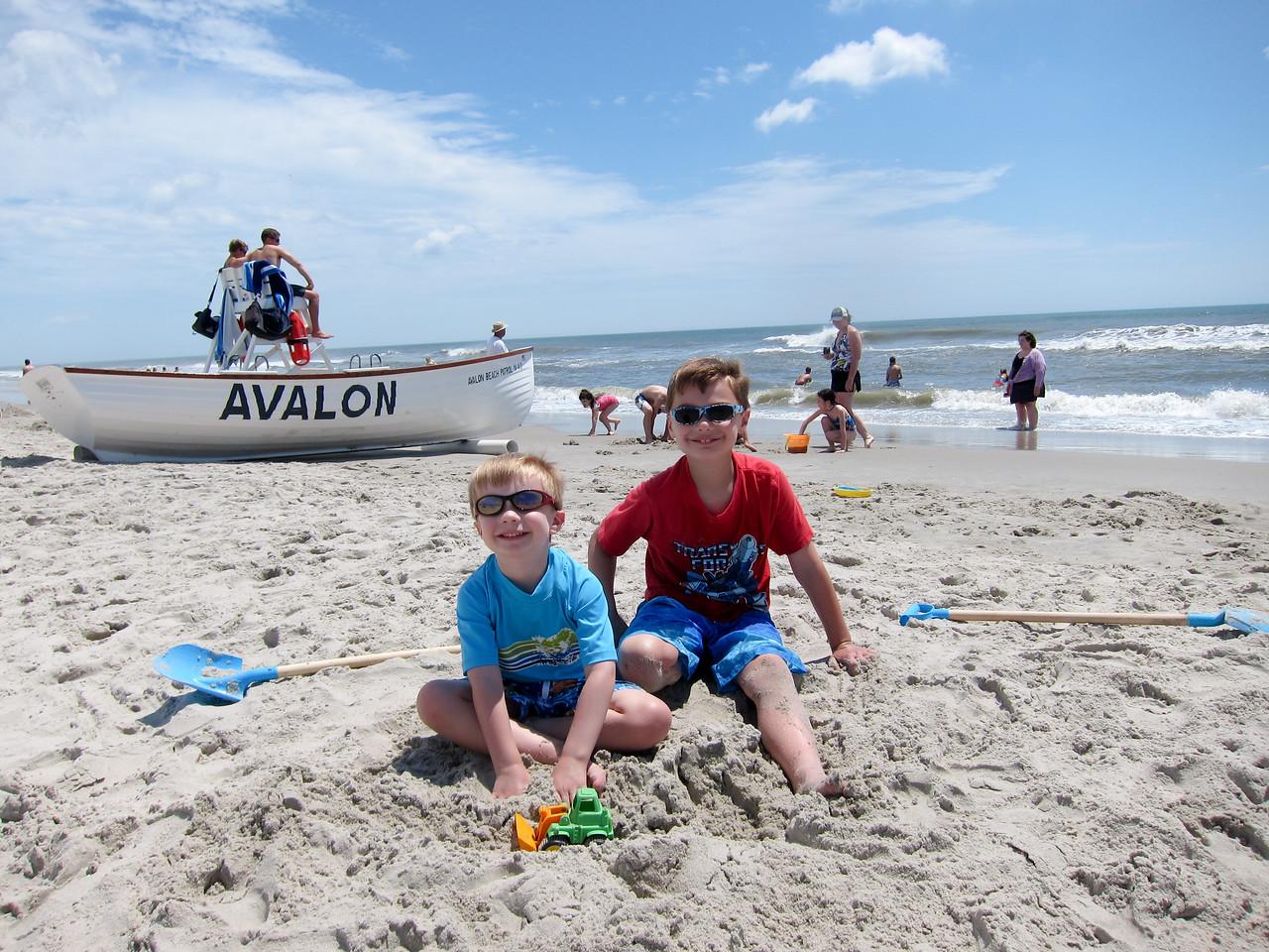 Enjoying a sunny beach day in Avalon