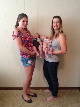 Kathy's pics:  Julie, Carly + babies