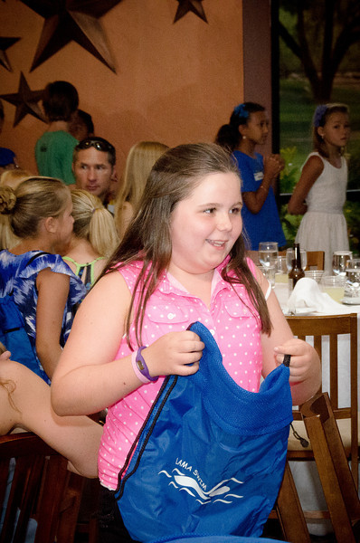 7.13.2013 - The La Mariposa Swim team awards ceremony for the 2013 season.