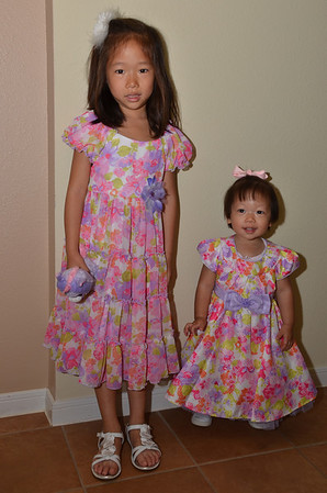 March 31, 2013 - The girls with their Easter dresses