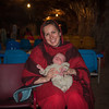 Erin and Seth (4 weeks) inside the Khewra salt mine