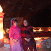 Julie and Erin at the salt mosque, made entirely from salt bricks