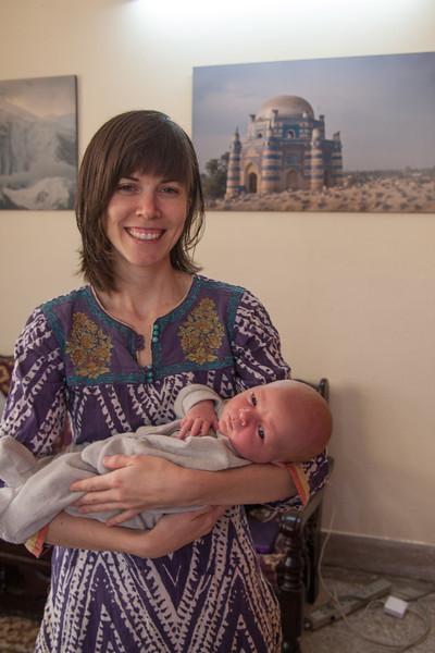 Julie and Seth (age 3 weeks)
