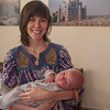 Julie and Seth (age 3 weeks)