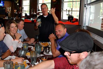 Alan toasts Matt